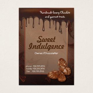 Tarjeta de visita dulce de la indulgencia para