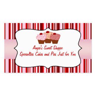 Tarjeta de visita dulce de la magdalena del Shoppe