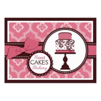 Tarjeta de visita dulce de la torta