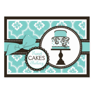 Tarjeta de visita dulce de la torta Turq