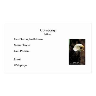 Tarjeta de visita/Eagle calvo