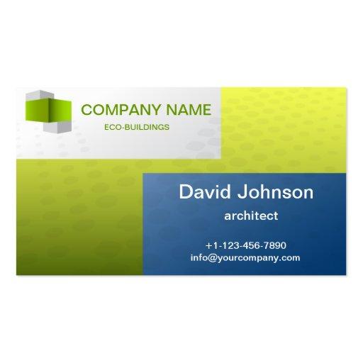 tarjeta de visita ecológica del edificio