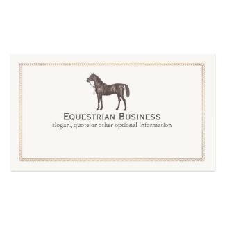 Tarjeta de visita ecuestre del caballo de Brown