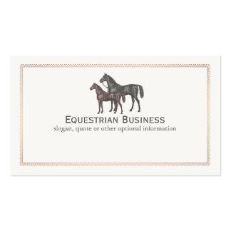 Tarjeta de visita ecuestre del caballo excelente