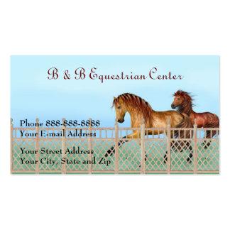 Tarjeta de visita ecuestre del rancho del caballo