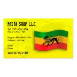 Tarjeta de visita Editable de Rastafarian