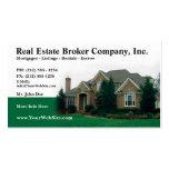 Tarjeta de visita Editable del agente inmobiliario