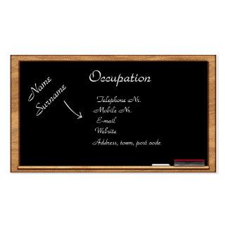 Tarjeta de visita: Educación y entrenamiento