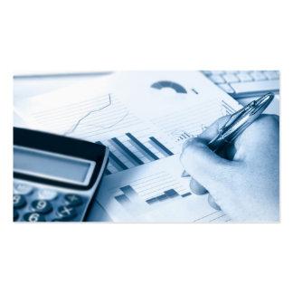 tarjeta de visita el considerar y de las finanzas