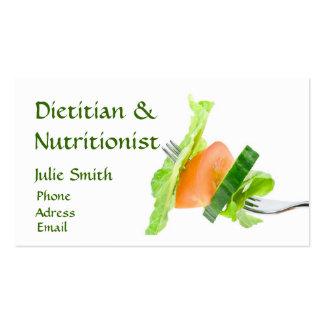 Tarjeta de visita el dietético