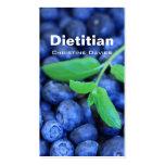 Tarjeta de visita el dietético de las zarzamoras