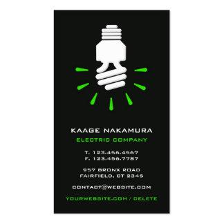 Tarjeta de visita eléctrica de Eco