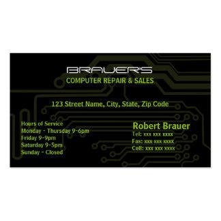 Tarjeta de visita eléctrica de la placa de circuit