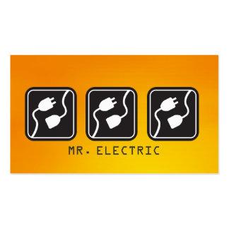 Tarjeta de visita eléctrica del electricista