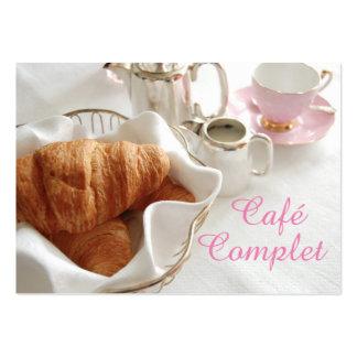 Tarjeta de visita elegante de Café