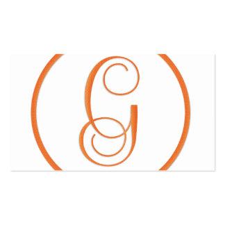 Tarjeta de visita elegante de G de la letra