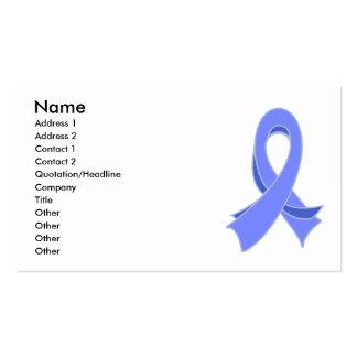 Tarjeta de visita elegante de la cinta del cáncer