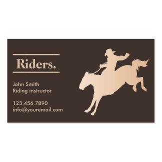 Tarjeta de visita elegante de la equitación del va