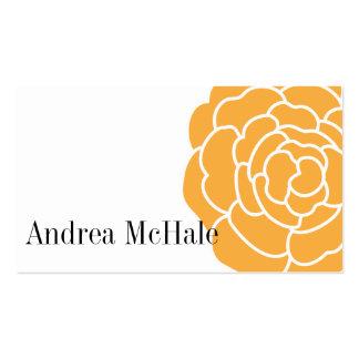 Tarjeta de visita elegante de la flor anaranjada