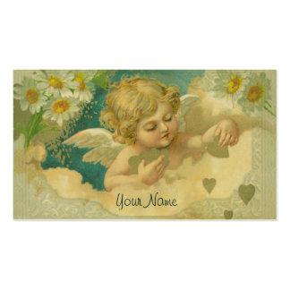 Tarjeta de visita elegante de la querube de la ang