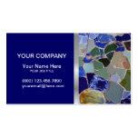 Tarjeta de visita elegante de los mosaicos