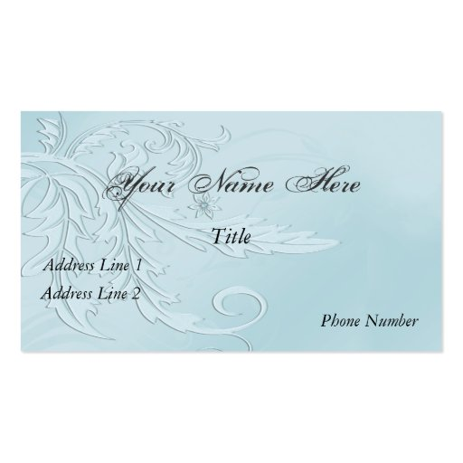 Tarjeta de visita elegante de Nouveau Fleur