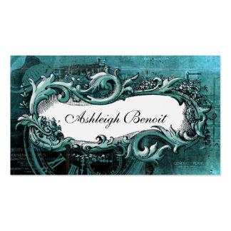 Tarjeta de visita elegante de Steampunk del marco