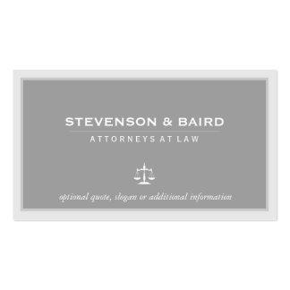 Tarjeta de visita elegante del abogado
