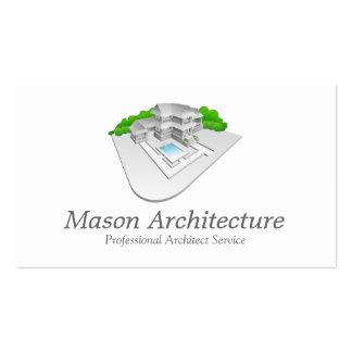 Tarjeta de visita elegante del arquitecto/de la ar