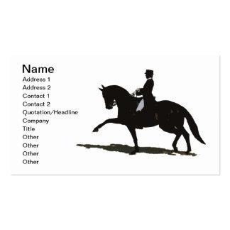 Tarjeta de visita elegante del caballo del Dressag
