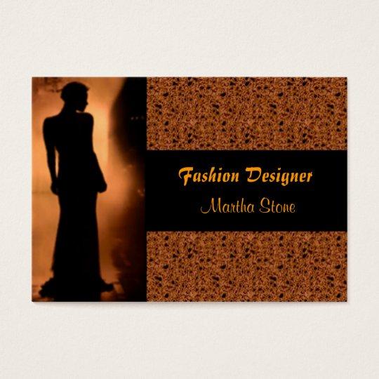 Tarjeta de visita elegante del diseñador de moda