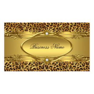 Tarjeta de visita elegante del estampado leopardo