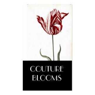 Tarjeta de visita elegante del florista de las cos