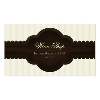 tarjeta de visita elegante del vintage con la