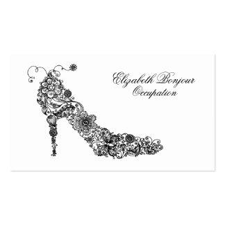 Tarjeta de visita elegante del zapato