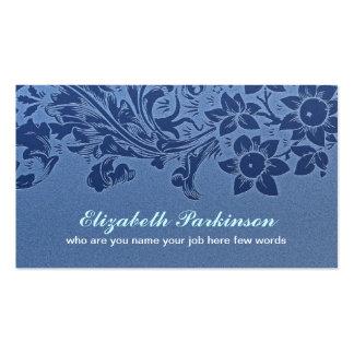 tarjeta de visita elegante hermosa azul