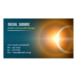 tarjeta de visita elegante ligera