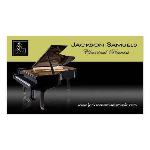 """Tarjeta de visita elegante - """"pianista de uso múlt"""