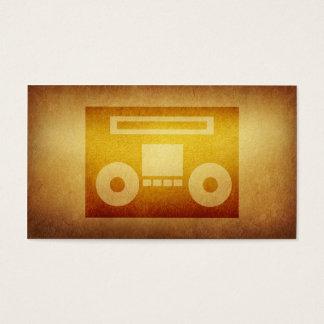 Tarjeta de visita empapelada de la cinta del disc