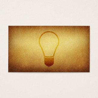 Tarjeta de visita empapelada de las ideas del