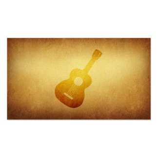 Tarjeta de visita empapelada del músico de la guit