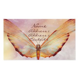 Tarjeta de visita en colores pastel de la mariposa