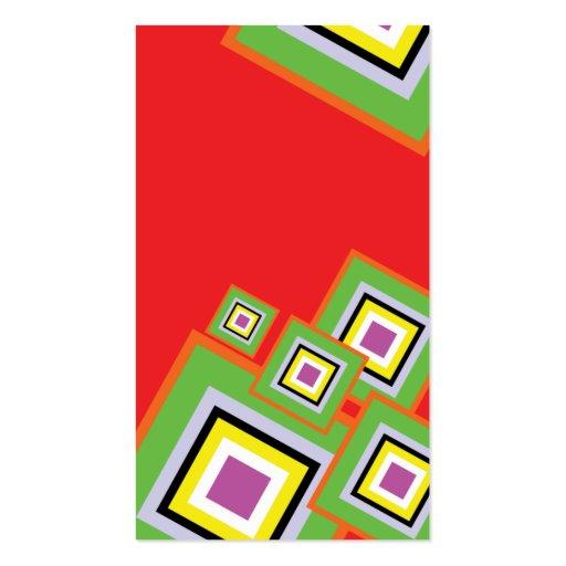 tarjeta de visita en rojo precioso