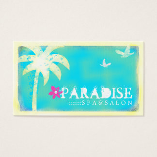 Tarjeta de visita encontrada paraíso de la