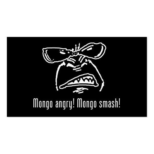 Tarjeta de visita enojada del choque del Mongo del