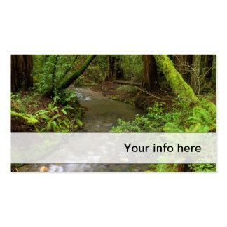 Tarjeta de visita enorme del bosque
