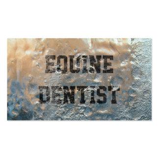 Tarjeta de visita equina del dentista del hielo co