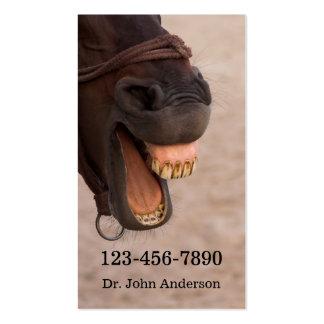 Tarjeta de visita equina del dentista