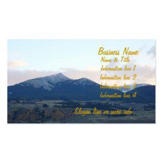 Tarjeta de visita escénica de las montañas de