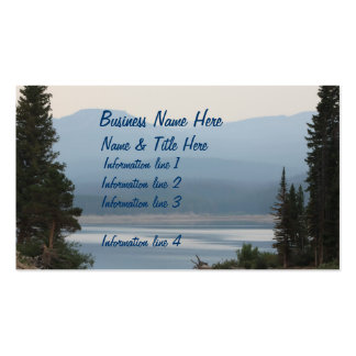 Tarjeta de visita escénica del lago mountain